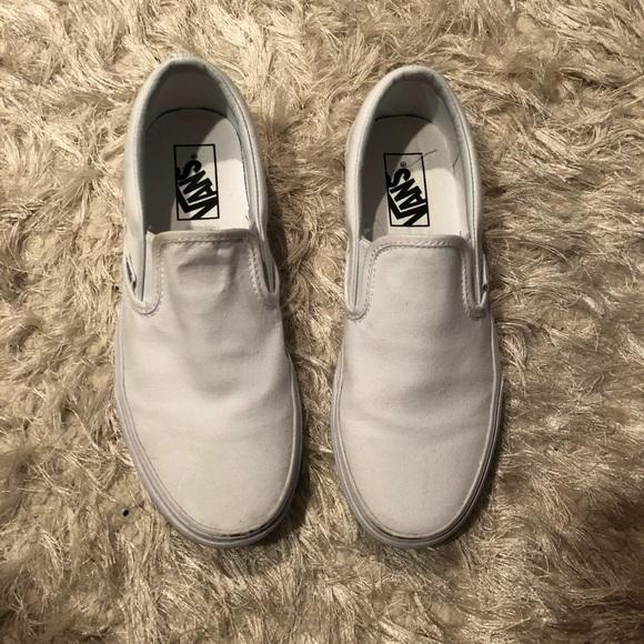 white vans size 8